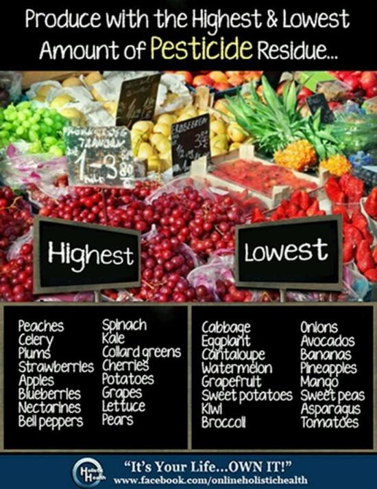 Pesticide chart