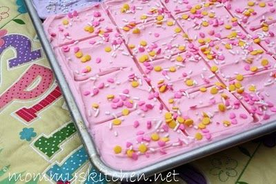Frosted Cream Cheese Sugar Cookie Bars. (the easy way to make sugar cookies)