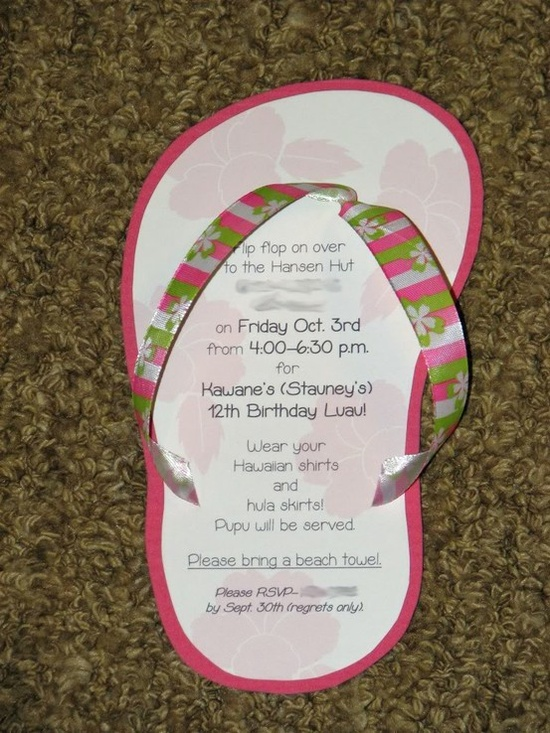 Luau Party Invitations party-wishes