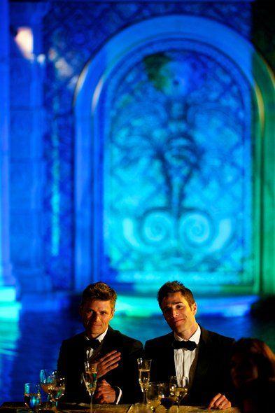 #samesexwedding #blueuplighting #beautiful #2grooms #katemackenzie