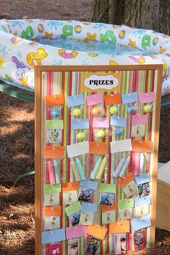 circus party-love the prize board!