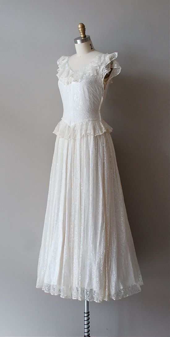 1930s lace dress