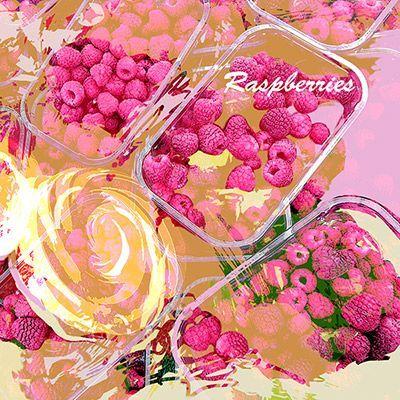 illustration of Food Illustration, beverage, raspberries, organic, market, fruit, agriculture, health, dessert, restaurant, cafe, menu,