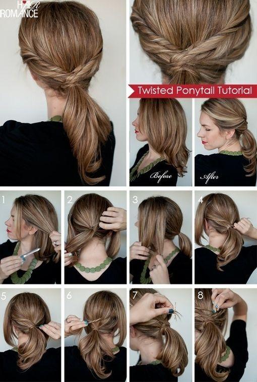 DIY Twisted Ponytail diy easy diy diy beauty diy hair diy fashion beauty diy diy style diy hair style