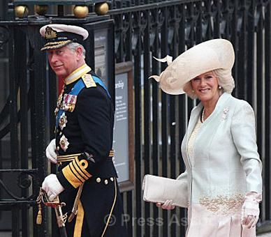 The Prince of Wales and The Duchess of Cornwall arrive at Westminster Abbey
