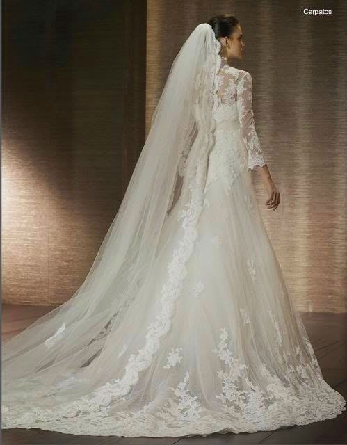 2012 New arrival vintage long sleeve lace wedding dresses