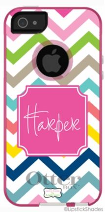 Multi Chevron Personalized Monogrammed OtterBox® iPhone Cover