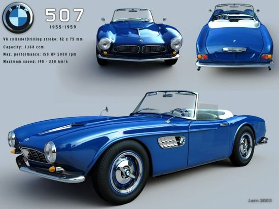 BMW 507 classic cars BMW 507 Roadster Classic Sports Car