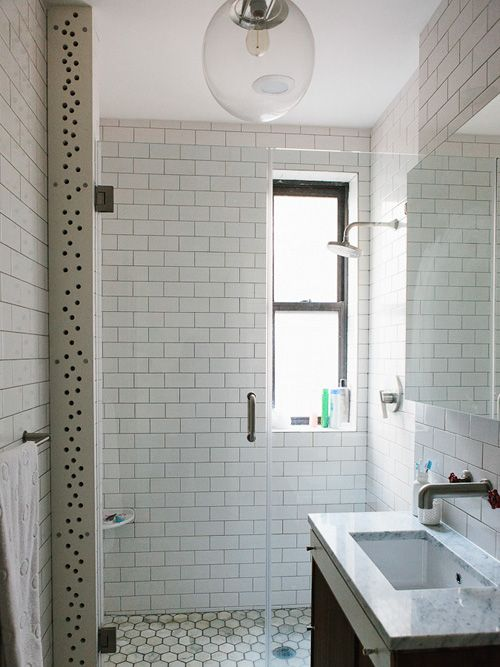 all subway tile bathroom