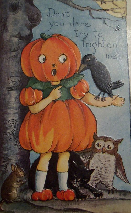 Vintage Halloween postcards.