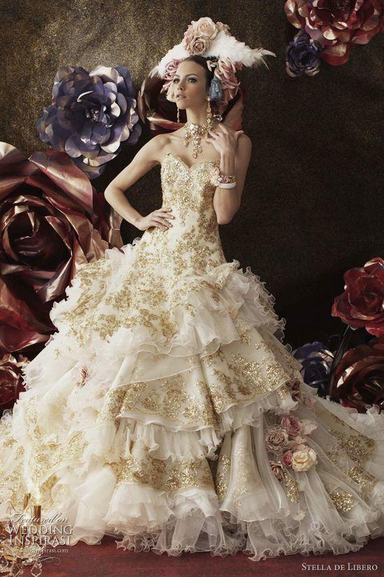 marie antoinette wedding dresses - Stella de Libero bridal collection 2011