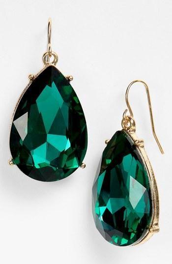 Fashion Week Packing Inspiration: Emerald Earrings