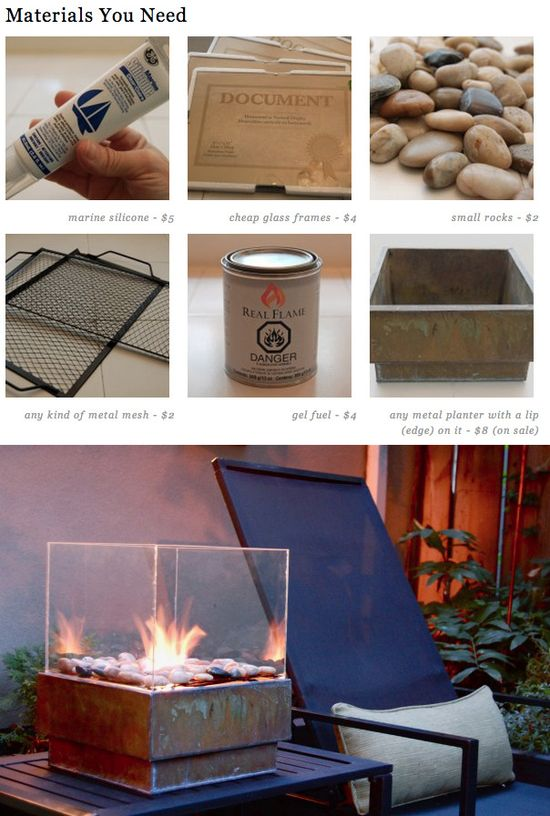 Here's a very cool personal fire pit you can make for less than $25.