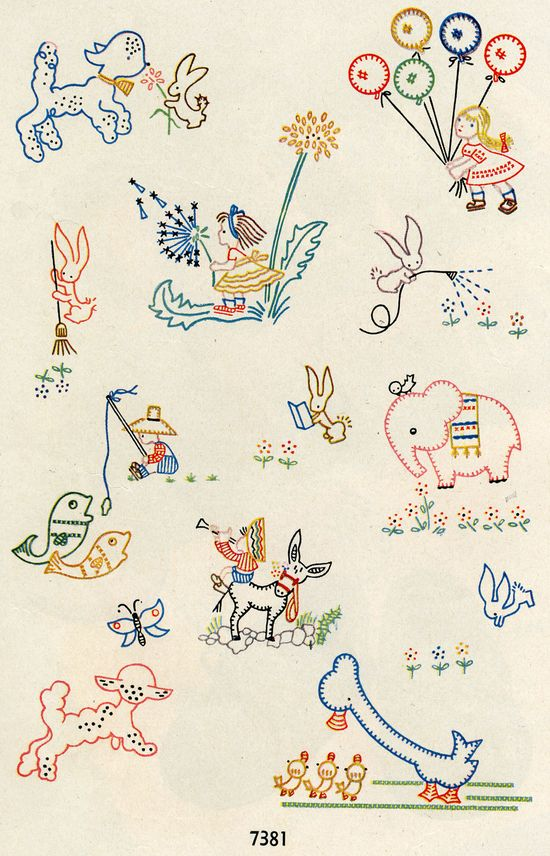Vintage Embroidery--Cute, cute!