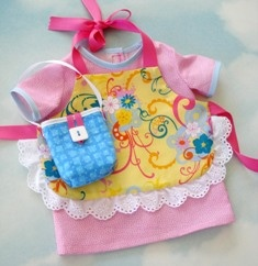 Doll Dress, Aprons & Bags for 18 Inch Dolls