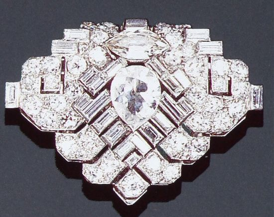 Cartier London Art Deco Diamond Clip