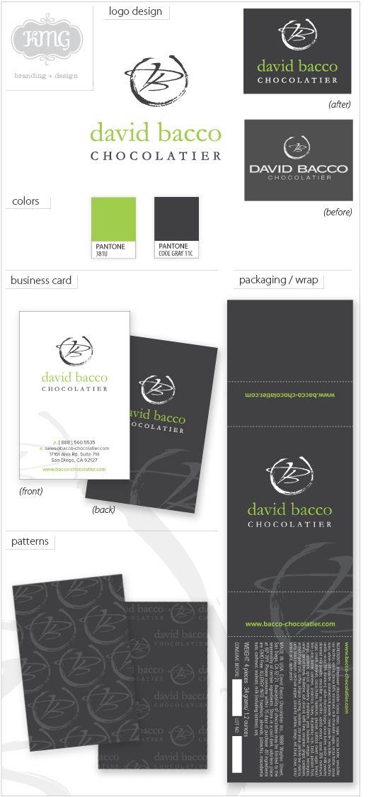 Branding of David Bacco Chocolatier
