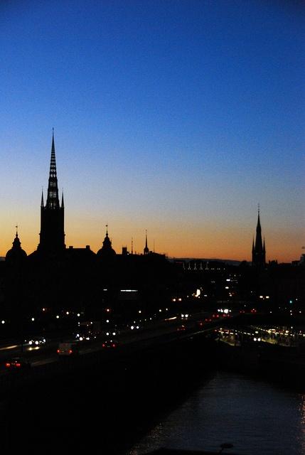 Stockholm at dusk