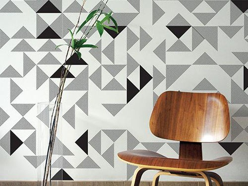 The Wallpaper Collective's 3-D wallpaper.
