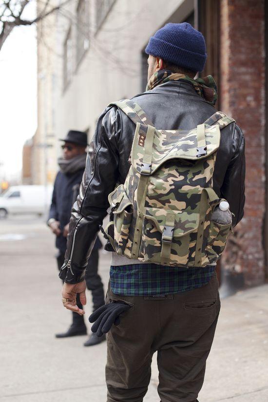 Camo backpack #Menswear