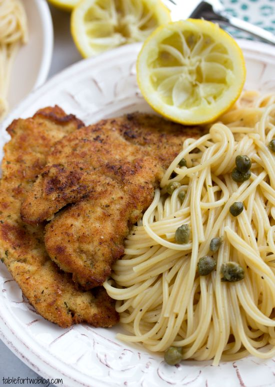 Easy 30 minute chicken piccata from www.tablefortwobl...