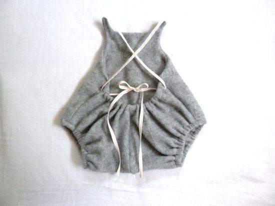 pure cashmere baby romper