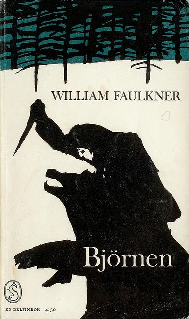 William Faulkner, The Bear, cover by Per Åhlin, 1964