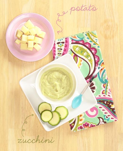 Pretty. Delicious. [Baby Food]: Zucchini Potato