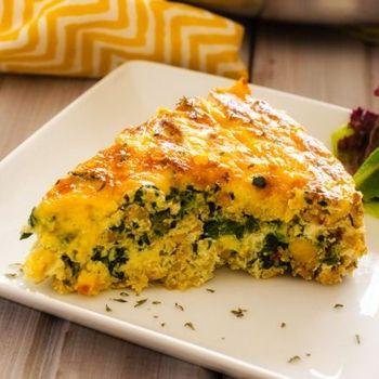 Quinoa, Spinach & Sausage Breakfast Casserole