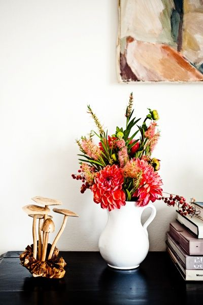floral arrangement and fungi