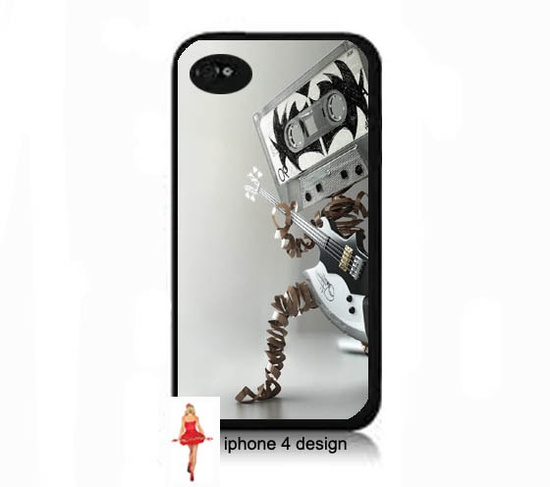 Cassette Design Iphone 4/4s case, Iphone case, Iphone 4s case, Iphone 4 cover, i phone case, i phone 4s case