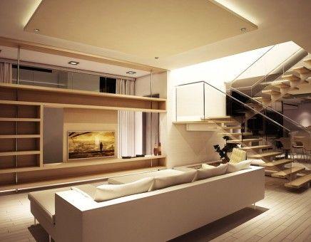 Modern living room design concept