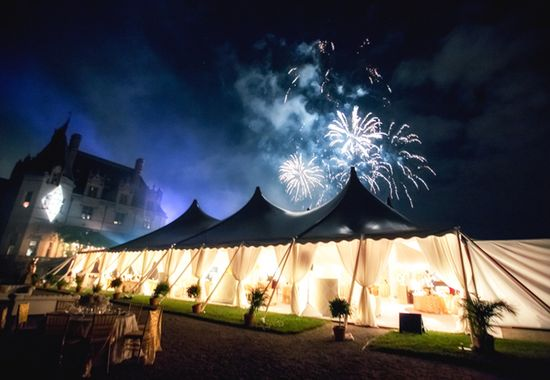 Reception Tent & Fireworks at Biltmore House for engage!13 event // Photo: Jeremie Barlow