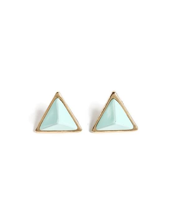 pastel triangle studs #earrings