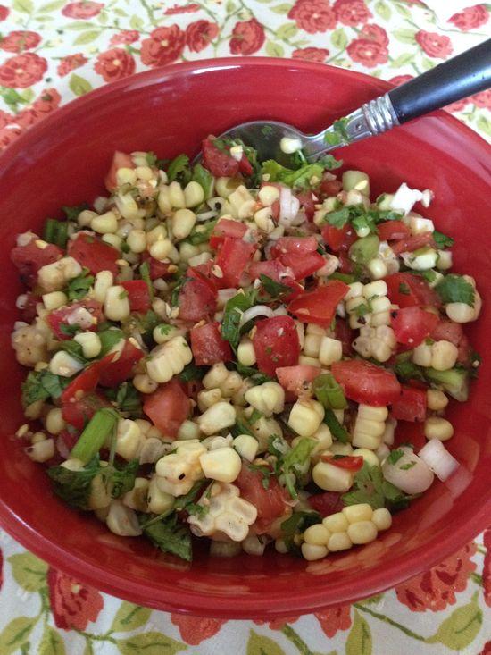 How to Make Colorful Corn Salad  (Or Salsa)