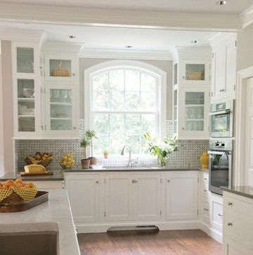 The New Traditional - traditional - kitchen -yellow #floor design ideas #floor decorating before and after