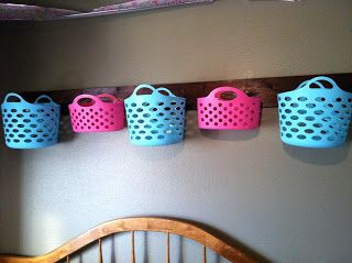 Wall Basket Hanger / Shelf / Organizer DIY EASY!   Stuffed animal storage?