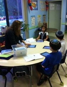 First graders and iPads