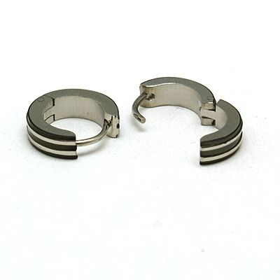 PandaHall Jewelry—Fashionable 304 Stainless Steel Hoop Earrings