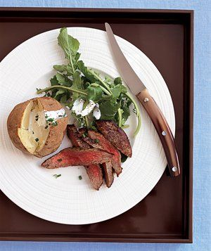 Steak Dinner recipe from realsimple.com #myplate #protein #vegetables