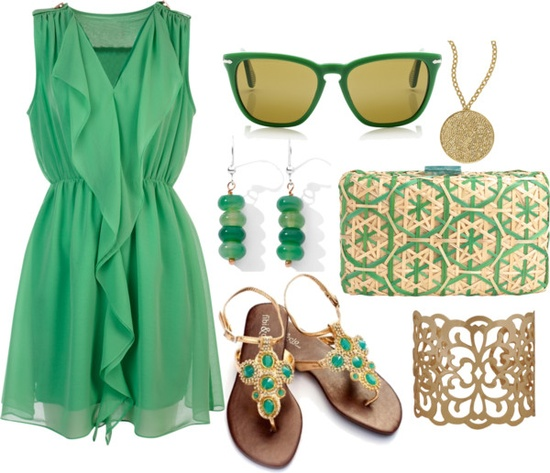 """Feeling Green"" by rainbowprincess on Polyvore"