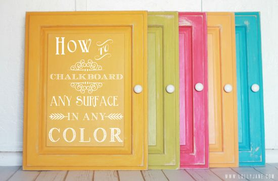 How to chalkboard any surface in any color
