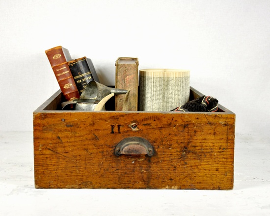 old drawer used for storage
