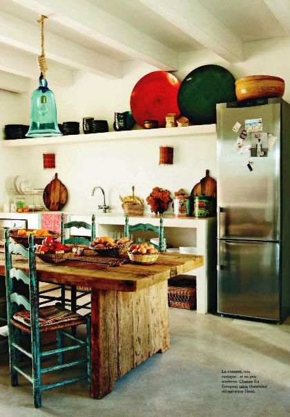 Colorful and eclectic country kitchen