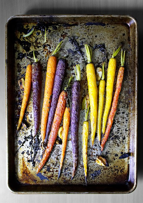 Just 5: Garlic Roasted Carrots from The Yellow Table