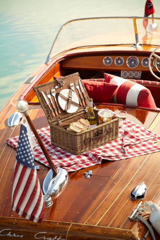 picnic on the boat