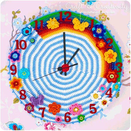 Crocheted Clock - by Craft & Creativity