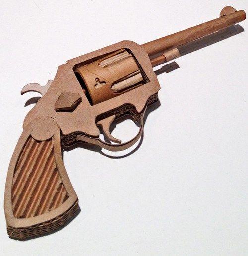 Пистолет-играчка от картон и велпапе