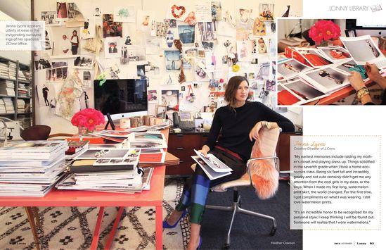 Jenna Lyons November 2012 - Lonny Magazine