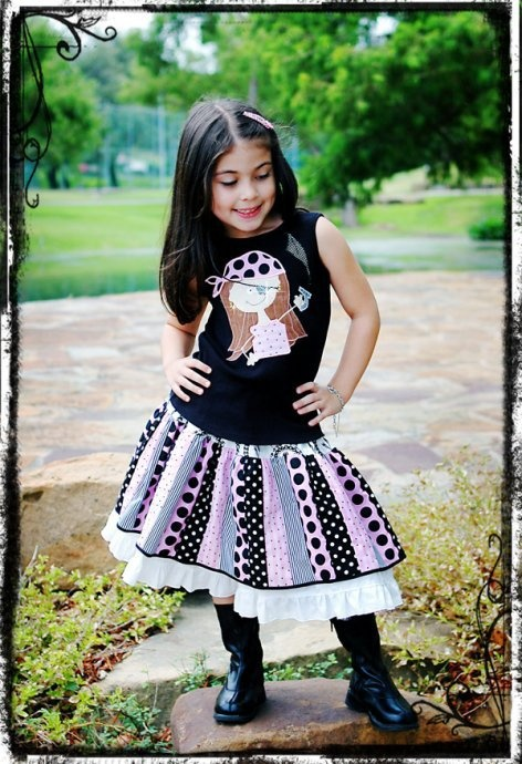 Double Layer Stripwork Twirl Skirt- All Sizes! Maybe Millee will like this one... haha
